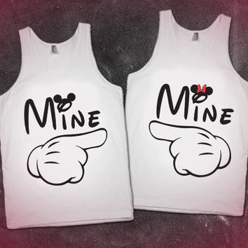 Mine His/Hers Matching Tanks. Perfect for Disney!