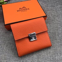 HERMES WOMEN'S LEATHER WALLET