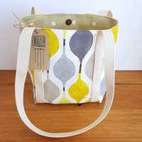 Small Shoulder Bag, Summer Handbag, Green and Gray Purse, Gift for Women, Fabric Bag With Pocket, Birthday Gift For Her, Small Tote Bag,