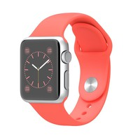 Apple Watch Sport - 38mm Silver Aluminum Case with Pink Sport Band
