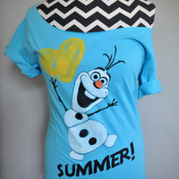 FROZEN - Olaf Summer Off-Shoulder T-Shirt (XS-XL)