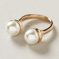 Pearl-Capped Cuff Ring by Anthropologie Pearl One Size Jewelry
