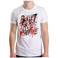 Bullet For My Valentine Men's Splattered T Shirt Men Women White Top Quality Tops TEE Shirt|T-Shirts