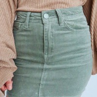 I'll Be Here Skirt: Dusty Sage