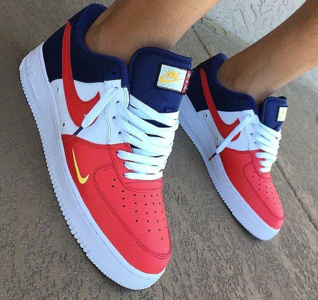 Image of Nike Air Force 1 Low Mini Swoosh USA Sneakers Sport Shoes