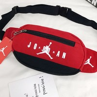 Jordan fashion hot selling lady leisure Mosaic color diagonal across the chest bag Red