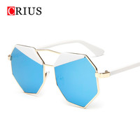 Brand CRIUS women's sunglasses for women sun glasses gafas de sol lunette de soleil vintage Unique personality eyebrow Hexagon
