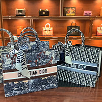 Dior Book Tote women's high-end fashion all-match handbag shopping bag