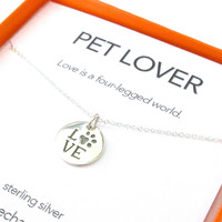 Pet Lover Charm Necklace Set