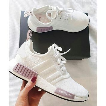Adidas NMD New fashion mesh couple sports leisure shoes White