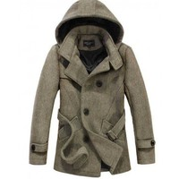 The Reed Hooded Short Trench Tan - leatherandcotton
