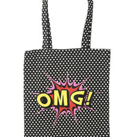 OMG Canvas Tote   Shop Accessories at Wet Seal