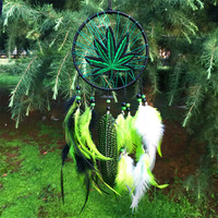 Artistic 12*35cm Wind Chimes Indian Style native American dream catcher tapestry leather dream catcher for room car decorate