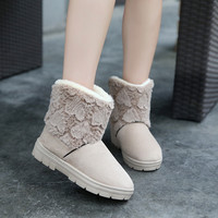 Hot Deal On Sale Winter Soft Rubber Lovely Cotton Shoes Boots [9036710660]