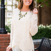 Double Dose Sweater, Beige
