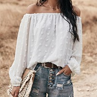 Strapless Solid Color Chiffon Shirt Top Tee