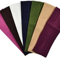 (Set of 7) 2.5 Inch Cotton Stretch Headbands From Funny Girl Designs (Official Funny Girl Designs Fall Set)