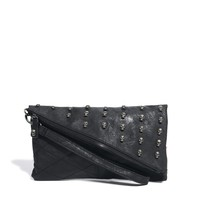 Religion | Religion Asymmetric Skull Stud Detail Clutch Bag at ASOS