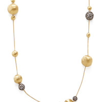 Marco Bicego Women's Africa Brunito White Sapphire Station Necklace - Gold