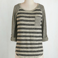 Mid-length 3 Valued Downtime Top in Grey
