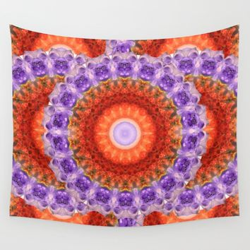 Majesty Mandala Art by Sharon Cummings Wall Tapestry by Sharon Cummings