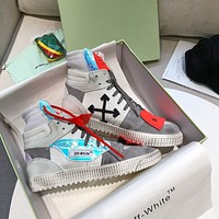 OFF-WHITE Women's Men's 2020 New Fashion Casual Shoes Sneaker Sport Running Shoes