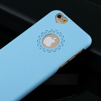 Cute Lovely Hollow heart Girl Back Hard Case Cover Skin for iPhone 6 / 6 Plus