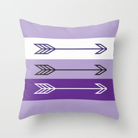 Arrows 3 Lavender  Throw Pillow by jessadee77