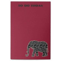 Black White Elephant on Red To Do List Post-it® Notes