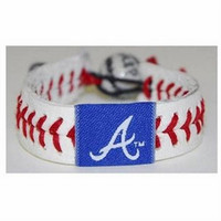 Gamewear MLB Leather Wrist Band - Braves (Blue)