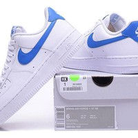 Nike Air Force 1 SE Blue White For Women Men Running Sport Casual Shoes Sneakers