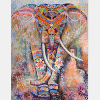 Drop Shipping Tapestry Blanket Indian Tapestry Folk-custom Wall Hanging Home Decor Elephant Square Boho Cover-Up Tapestries Gift