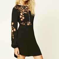Contemporary Floral Lace Dress