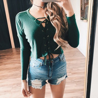 Women Deep V Neck Long Sleeve Slim T-shirt Spring Autumn Sexy Lace Up Bodycon Crop Tops Casual Solid Tee Shirts Ties Blusas