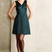 Emerald Facet Flared Dress by HD in Paris Turquoise