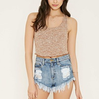 Ribbed Knit Crop Top   Forever 21 - 2000185401