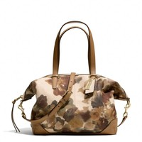 BLEECKER COOPER SATCHEL IN CAMO PRINT FABRIC