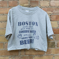 """Drink More Beer!"" Cropped Tee"