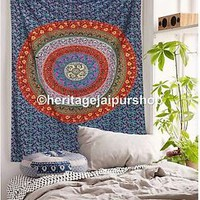 Twin Indian Mandala Tapestry Bedspread Hippie  Psychedelic Bohemian Wall Hanging