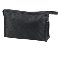 IMC SODIAL(R) Black Grid Pattern Cosmetic Make Up Small Zippered Bag