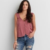 AEO Lace Button Down Tank