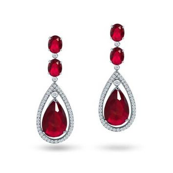 Bling Jewelry Moi And Toi Garnets