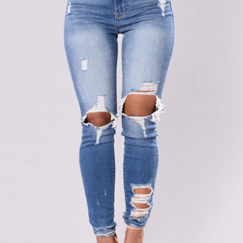 Till Love Runs Out Jeans - Medium Wash