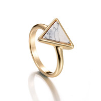 Jewelry Shiny New Arrival Gift Stylish Hot Sale Accessory Alloy Geometric Turquoise Ring [8581970119]
