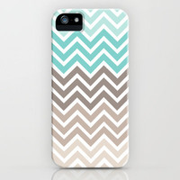 Beach Scheme Chevron iPhone Case by Wicked Cool Designs | Society6