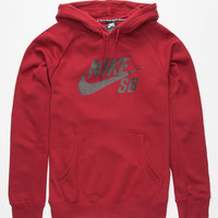Nike Sb Icon Crackle Mens Hoodie Red  In Sizes