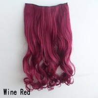 X&Y ANGEL- New Two Tone One Piece Long Curl/curly/wavy Synthetic Thick Hair Extensions Clip-on Hairpieces 26 Colors (dark purple to light purple)
