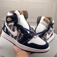 NIKE AIR JORDAN 1 AJ1 new high-top sneakers sports shoes versatile couple men and women basketball shoes sports shoes sneakers