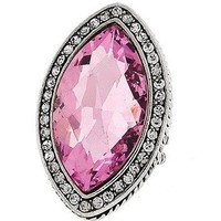 Cocktail Style Stretch Ring -Pink