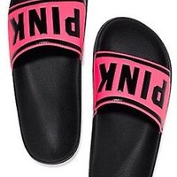 Victoria's Secret Pink Limited Edition Slip-on Slide Sandal Shoe Size M 7-8 NWT